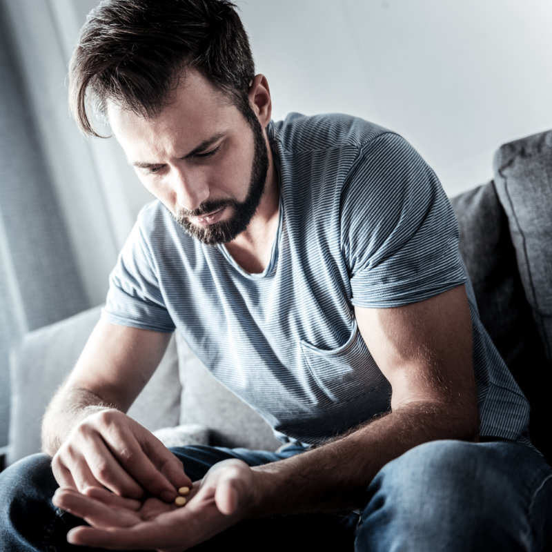 Man contemplates taking more pills